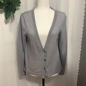 Max Studio Grey merino Wool Cardigan Size XL